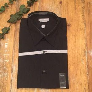 NWT Van Heusen Black Fitted Dress shirt